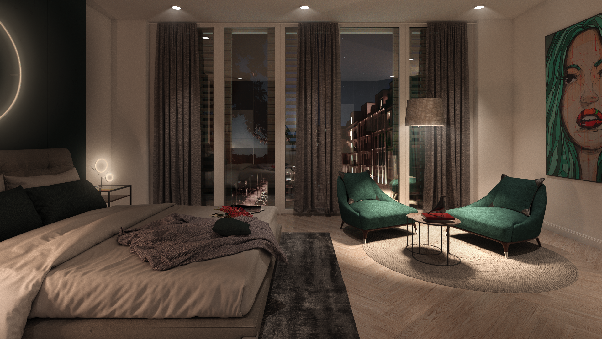 Schlafzimmer-Bethanienturm